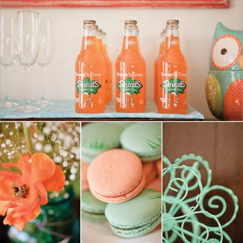 Aqua-orange-baby-shower-e1303355189108